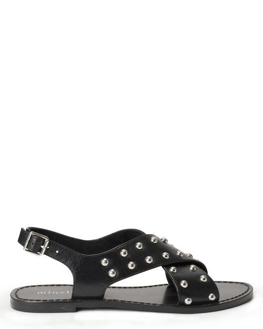 Sandale plate - Vaema, NOIR