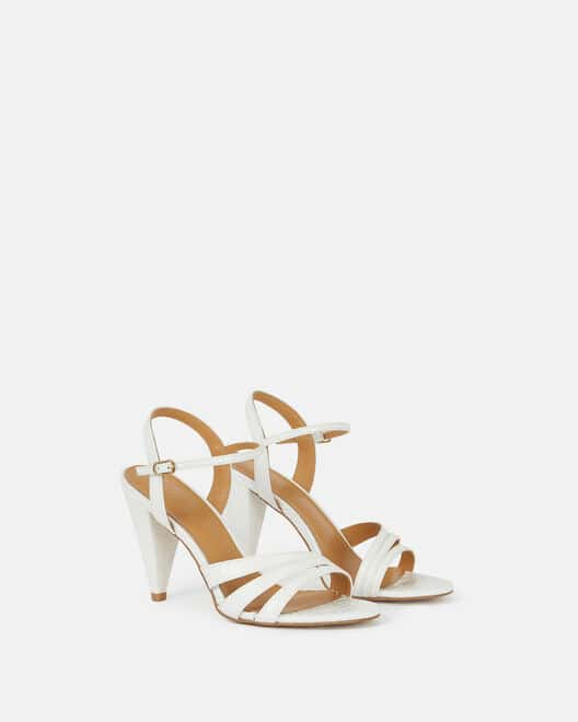 Sandale à talon - Cellya, BLANC