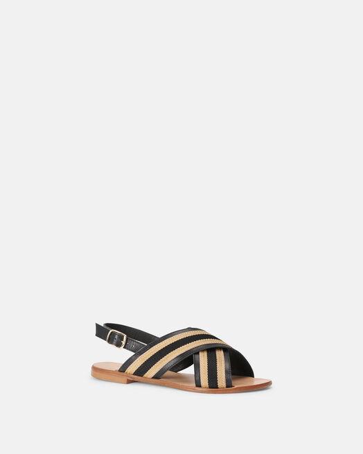 Sandale plate - Madlin, NOIR