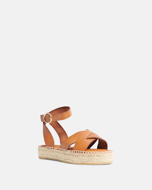 Sandale plate - Rozenette, CUIR