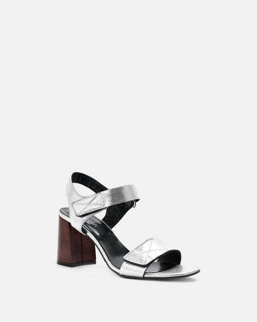 Sandale à talon - Chirrela, ARGENT