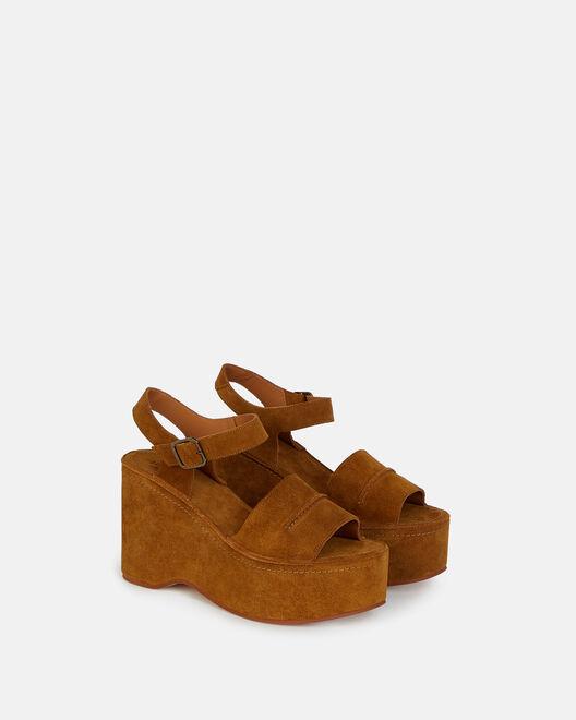 Sandale Compensee - Ceylia, TABAC