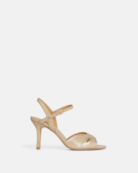 Sandale à talon - Taryana, PLATINE