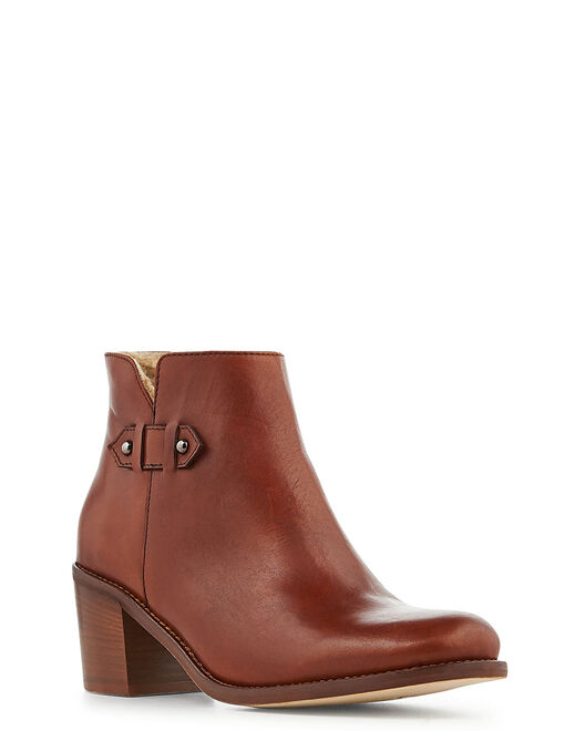 Boots - Gina, MARRON