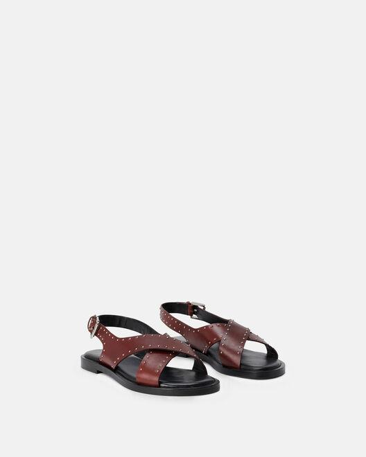 Sandale plate - Mirrai, MARRON