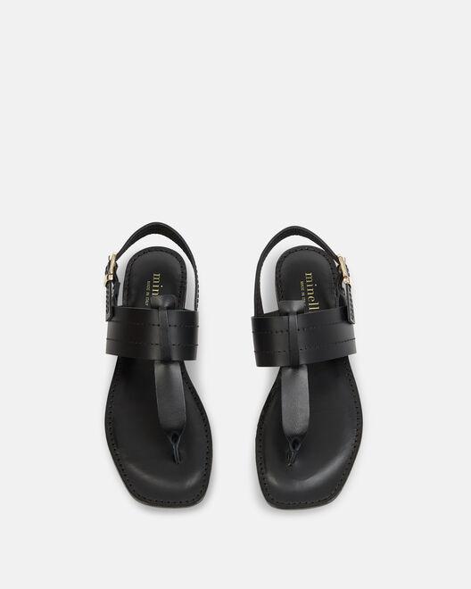Sandale plate - Nailea, NOIR