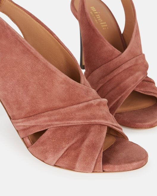 Sandale à talon - Calyxte, VIEUX ROSE