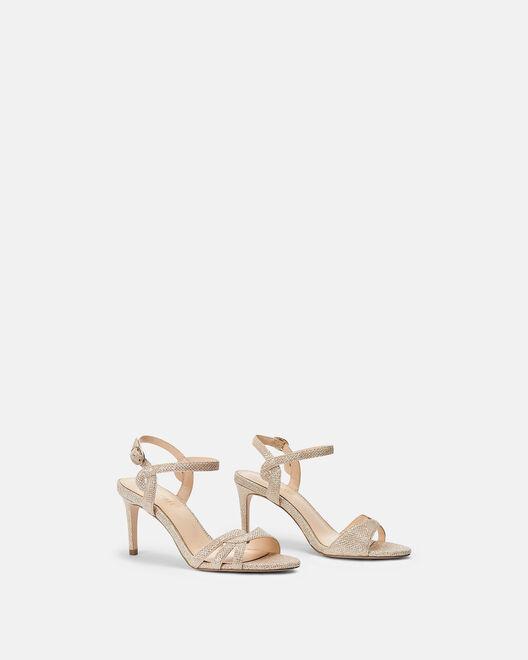 Sandale à talon - Cihame, PLATINE