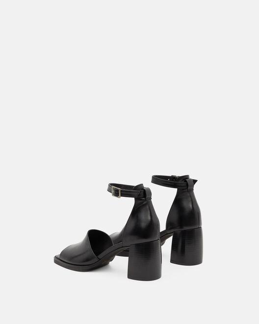 Sandale à talon - Touraya, NOIR