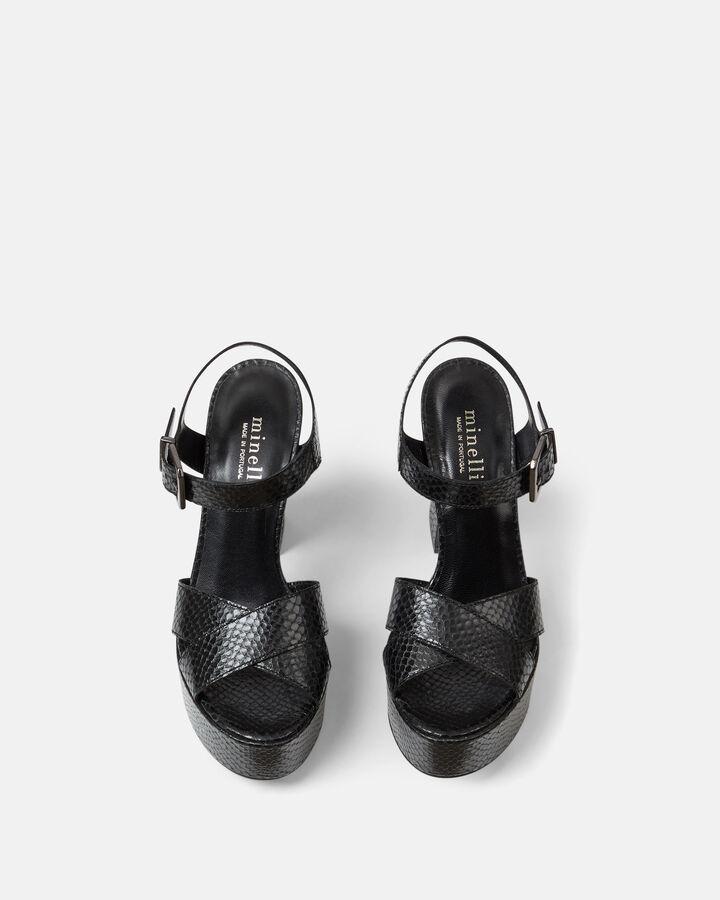 Sandale à talon - Gaella, NOIR