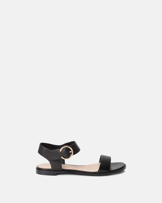 Sandale plate - Moune, NOIR