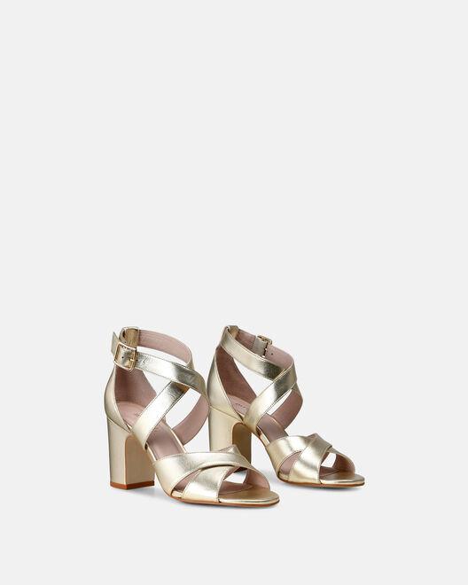 Sandale à talon - Clemire, PLATINE