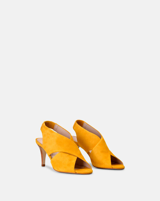 Sandale à talon - Cherlinie, JAUNE