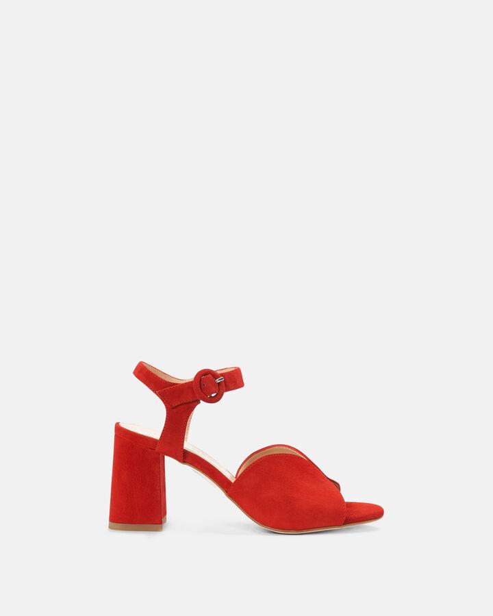 Sandale à talon - Ceesa, ROUGE