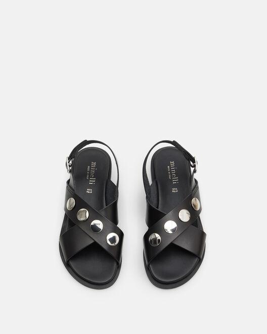 Sandale plate - Helaina, NOIR