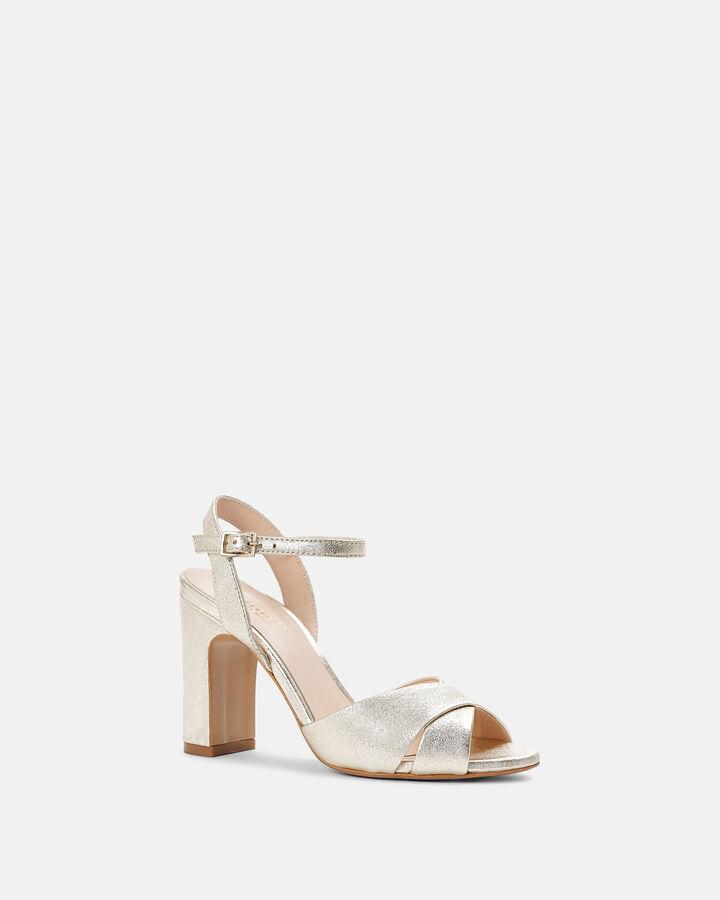 Sandale à talon - Beatriz, PLATINE