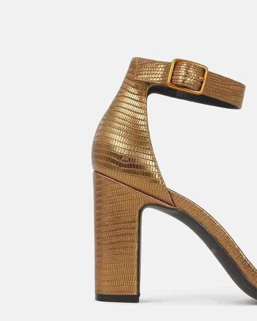 Sandale à talon - Chelya, BRONZE