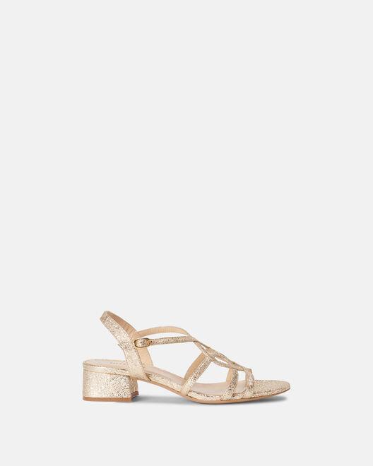 Sandale à talon - Melicia, PLATINE