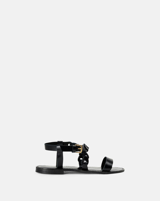Sandale plate - Myliana, NOIR