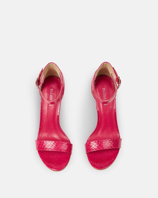 Sandale à talon - Cherine, FUCHSIA