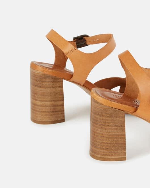 Sandale à talon - Tahou, CUIR