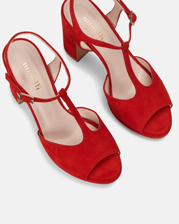 Sandale à talon - Bet, ROUGE