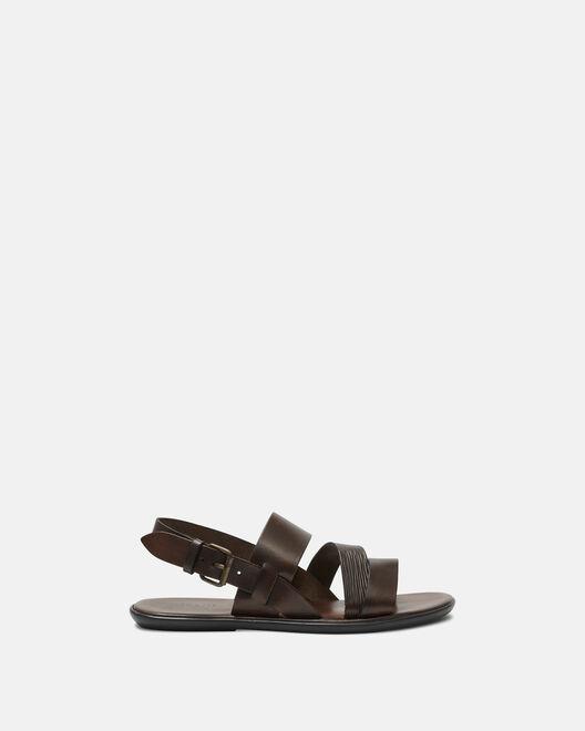 Sandale plate - Giani, CHOCOLAT
