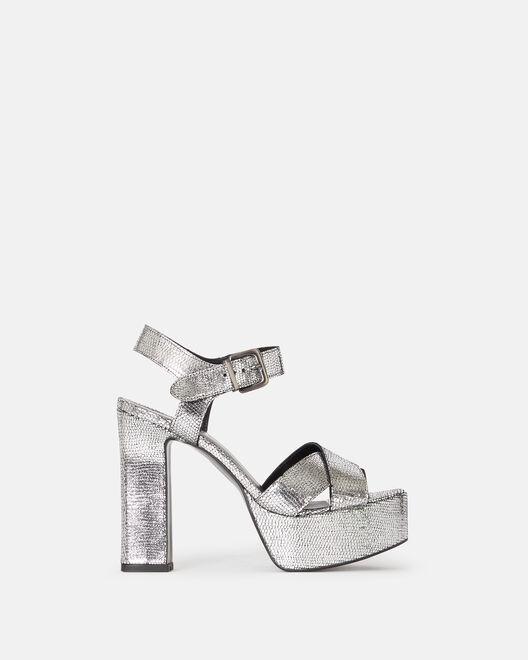 Sandale à talon - Giunia, ARGENT