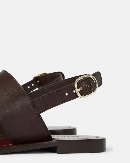Sandale plate - Nelita, CHOCOLAT