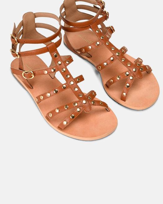Sandale plate - Massylia, CUIR