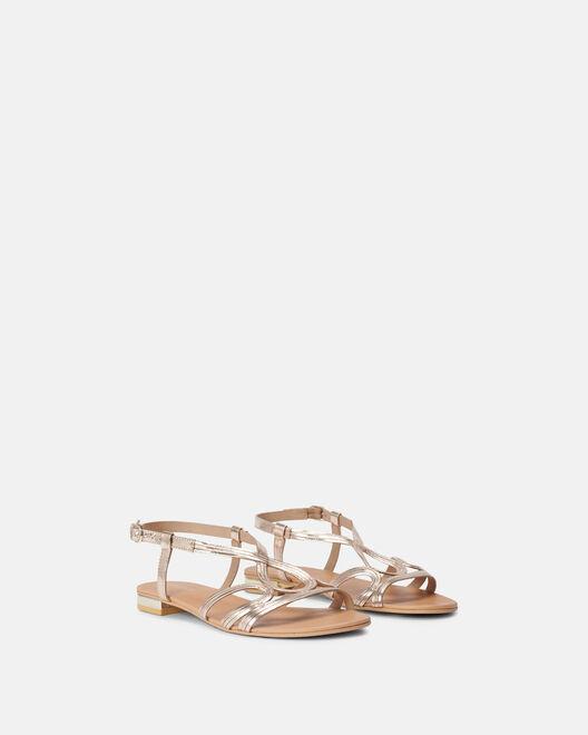 Sandale plate - Miray, PLATINE