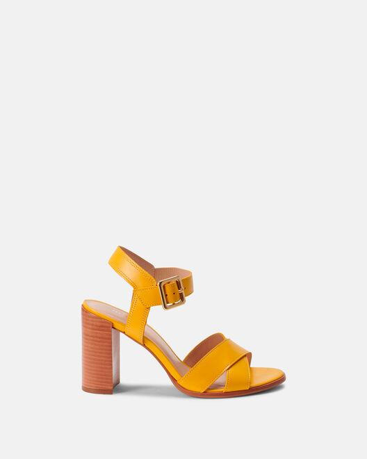 Sandale à talon - Benilda, JAUNE