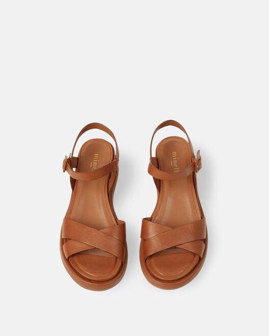 Sandale plate - Nelha, CUIR