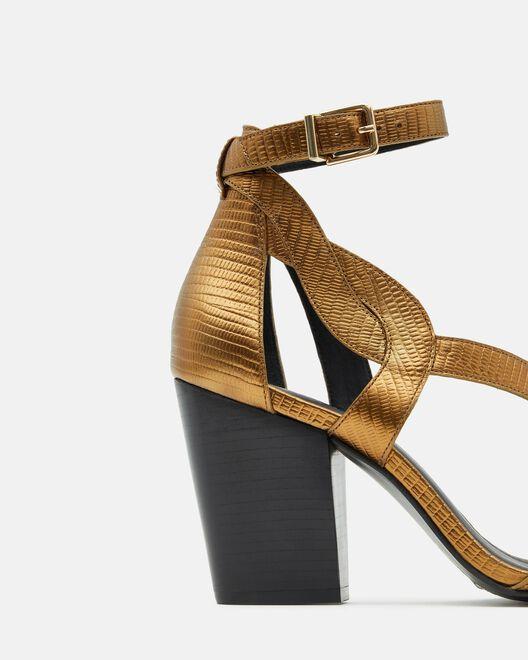 Sandale à talon - Tifene, BRONZE
