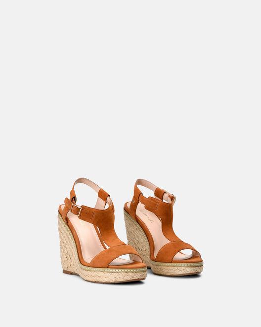 Sandale compensée - Marie, CUIR