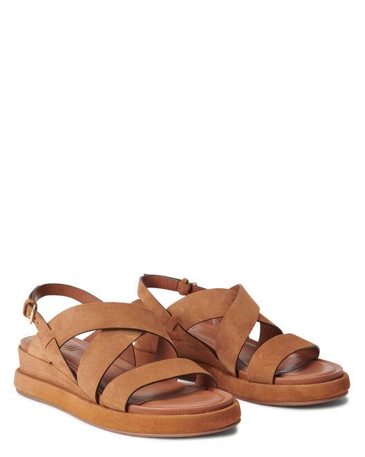 Sandale plate - Venke, CUIR