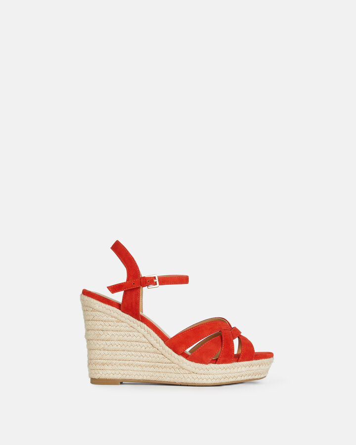 Sandale à talon - Tevya, COQUELICOT