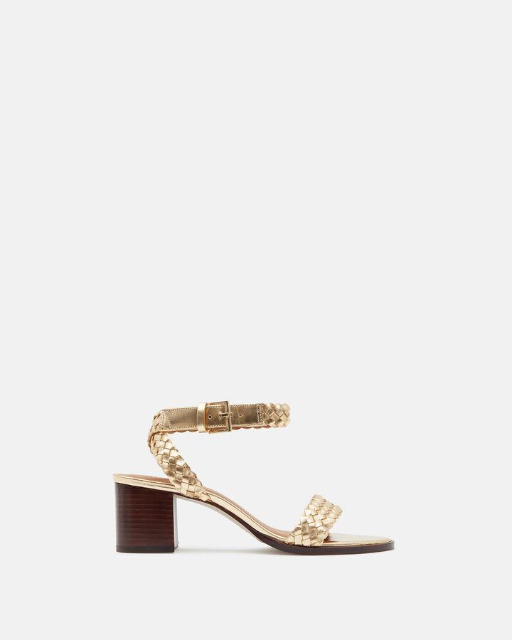 Sandale à talon - Tahiana, PLATINE