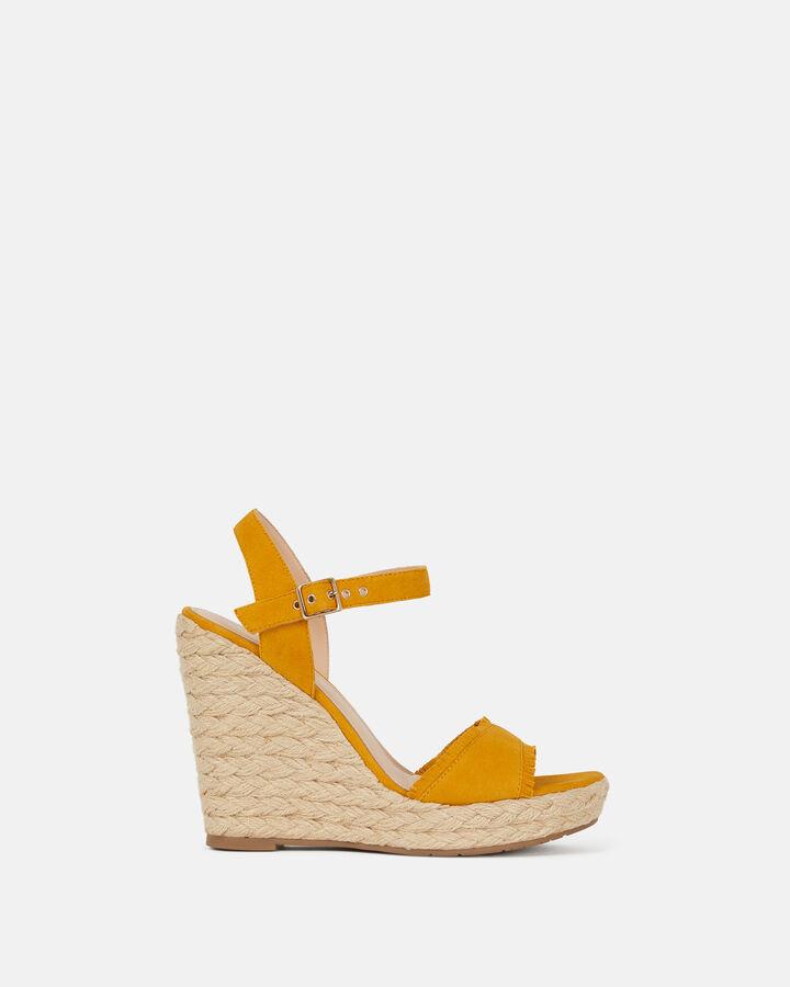 Sandale compensée - Barba, JAUNE