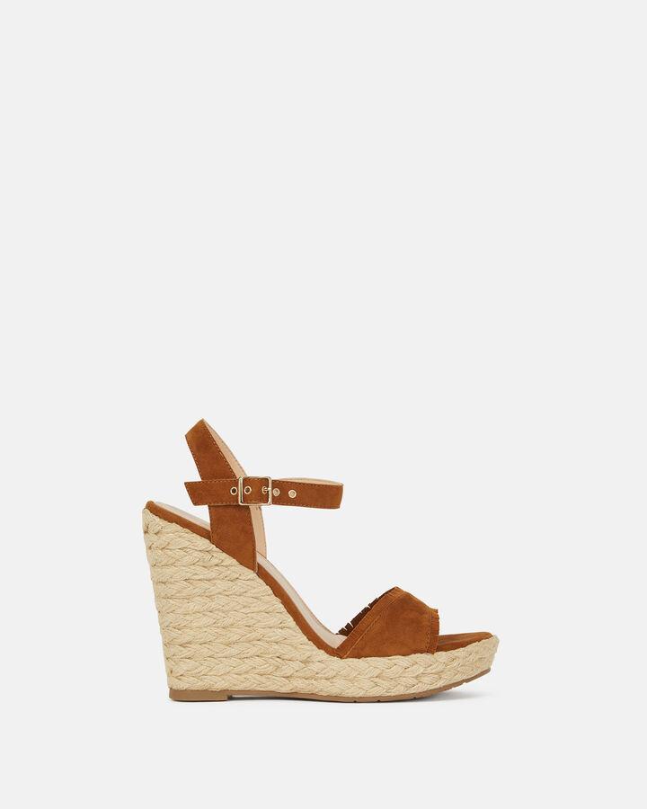 Sandale compensée - Barba, CUIR
