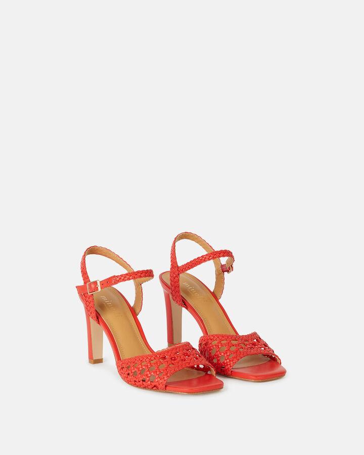Sandale à talon - Tanais, COQUELICOT