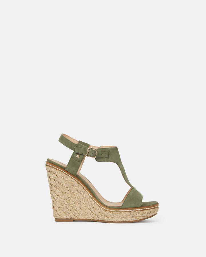 Sandale compensée - Marie, KAKI