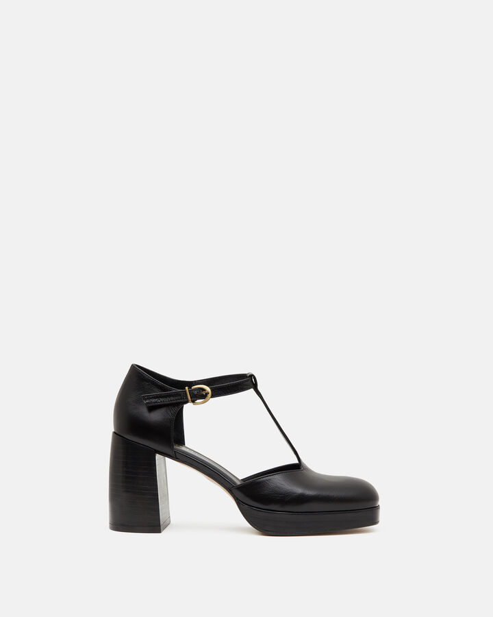 Sandale à talon  - Paolla, NOIR