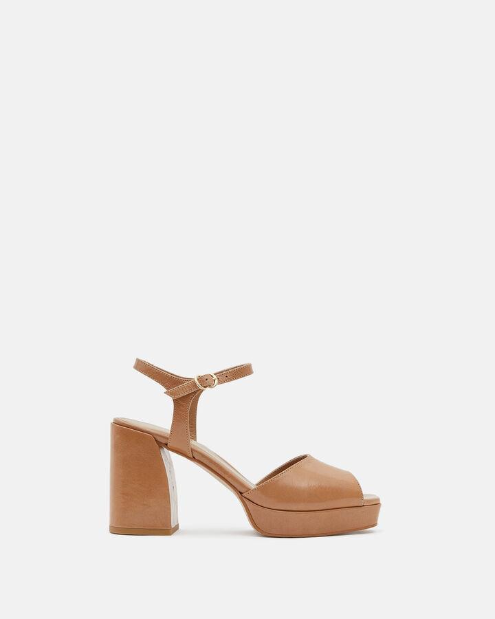 Sandale à talon - Theddie, NUDE