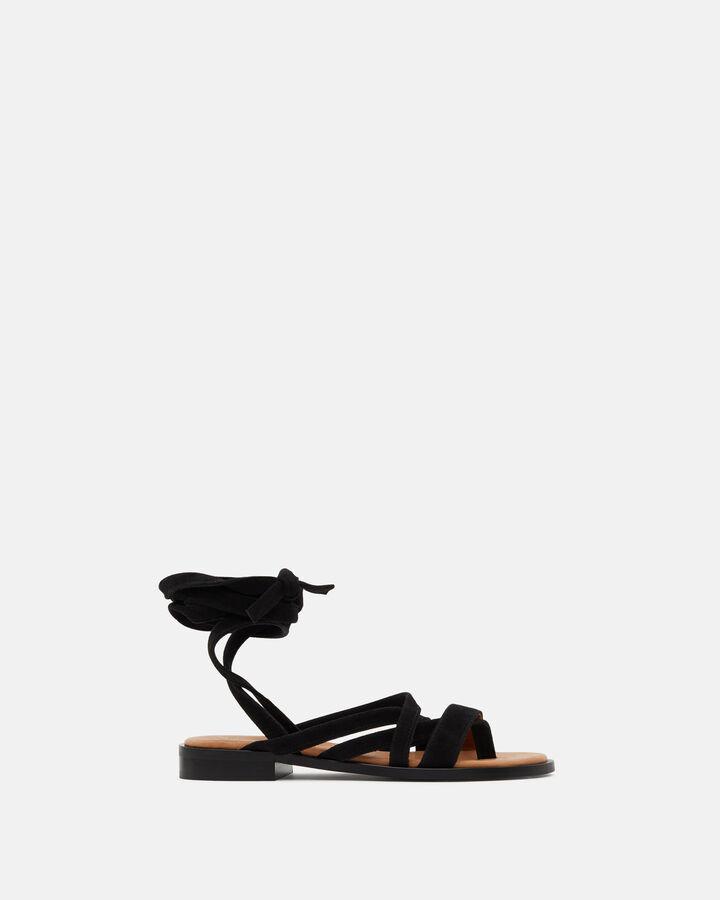 Sandale plate - Huria, NOIR