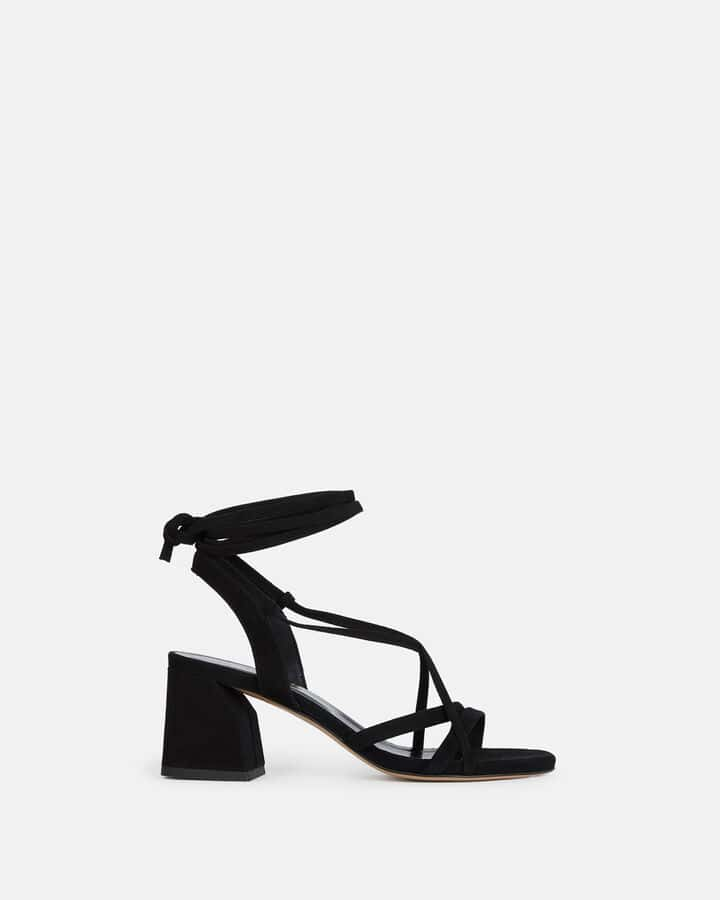 Sandale à talon - Tatia, NOIR