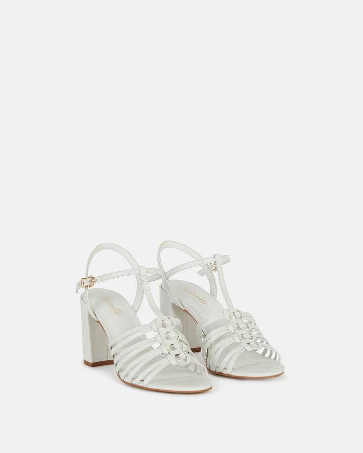 Sandale à talon - Therena, BLANC